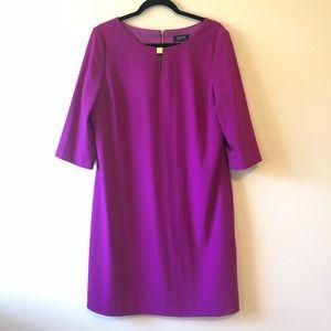 Tahari Arthur S. Levine Fuchsia Keyhole Dress—14